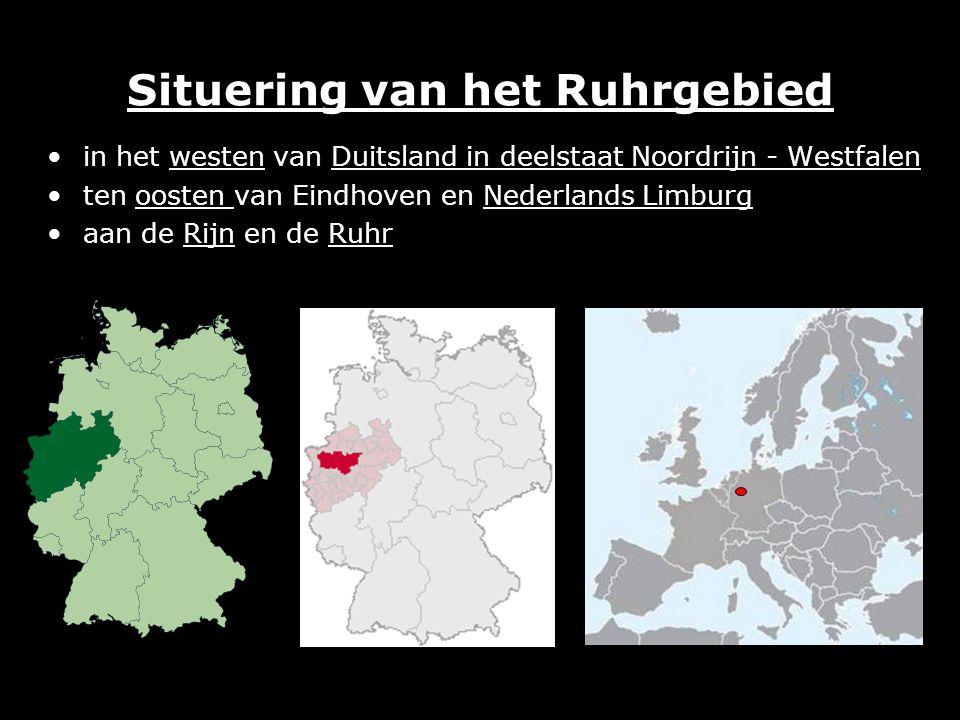Situering van het Ruhrgebied