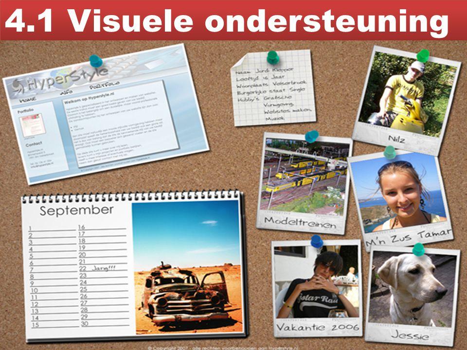 4.1 Visuele ondersteuning