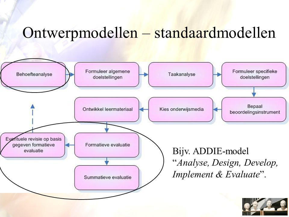 Ontwerpmodellen – standaardmodellen