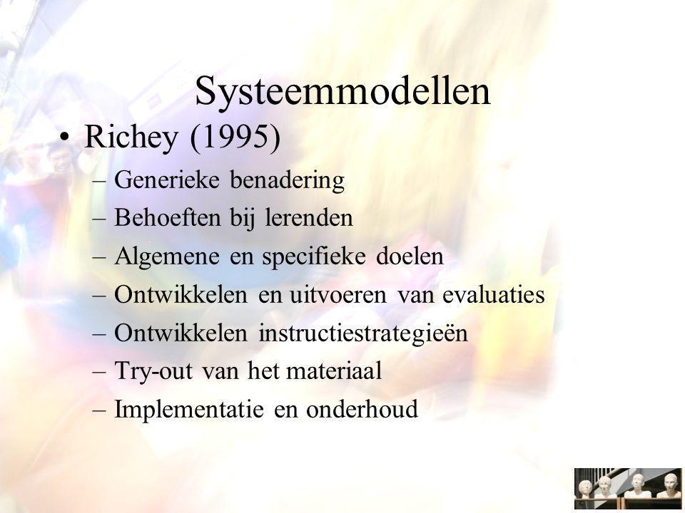 Systeemmodellen Richey (1995) Generieke benadering
