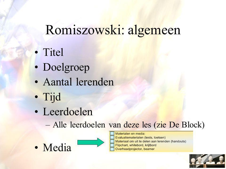 Romiszowski: algemeen