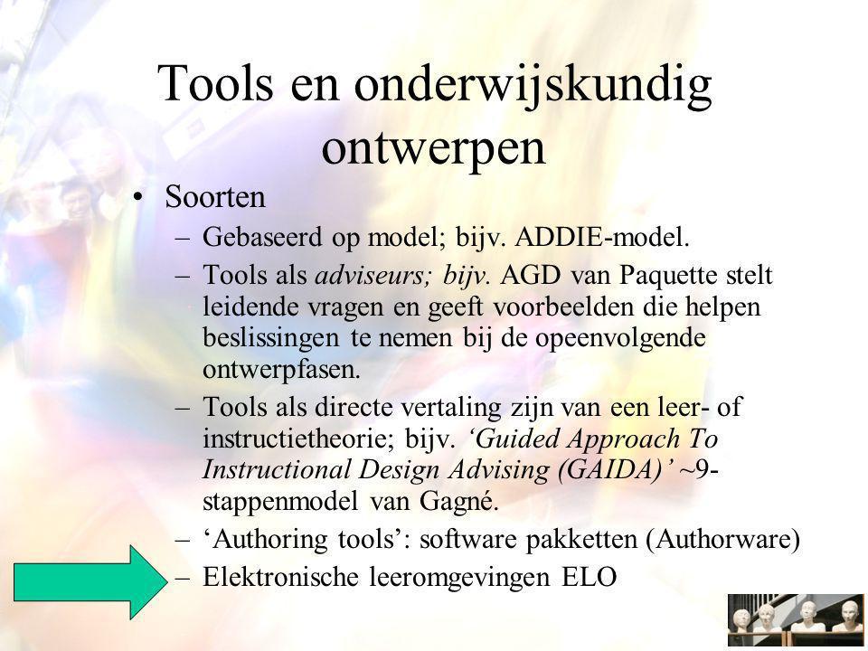 Tools en onderwijskundig ontwerpen