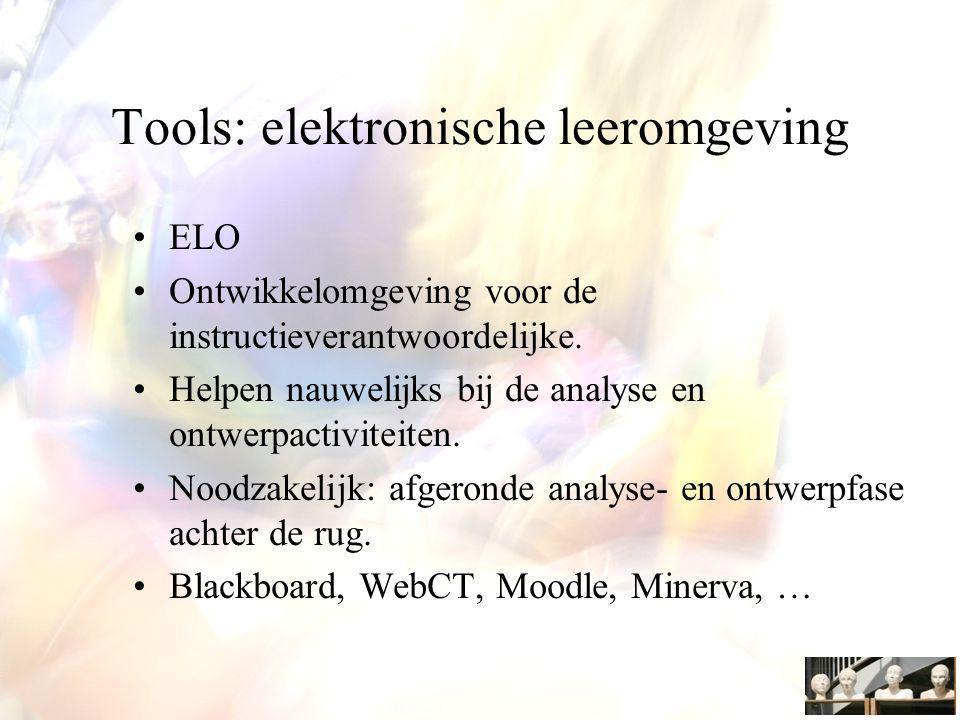 Tools: elektronische leeromgeving