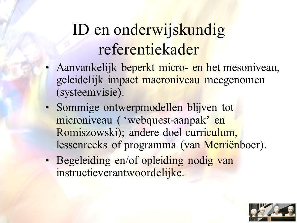 ID en onderwijskundig referentiekader
