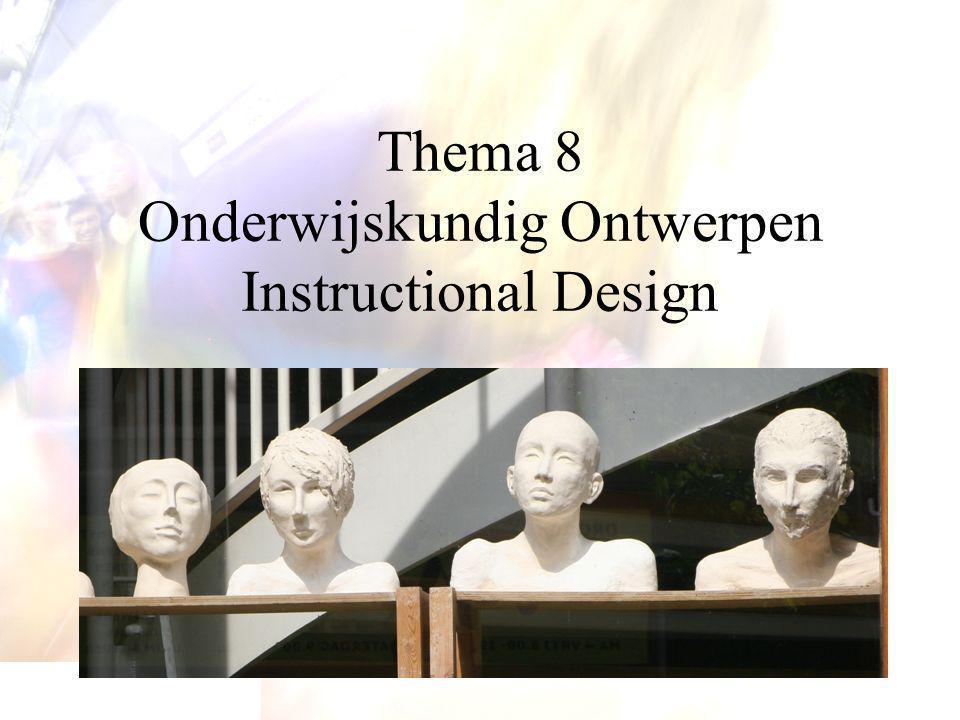 Thema 8 Onderwijskundig Ontwerpen Instructional Design