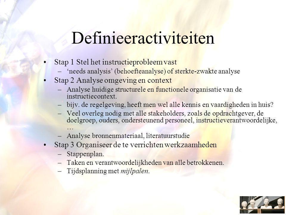Definieeractiviteiten