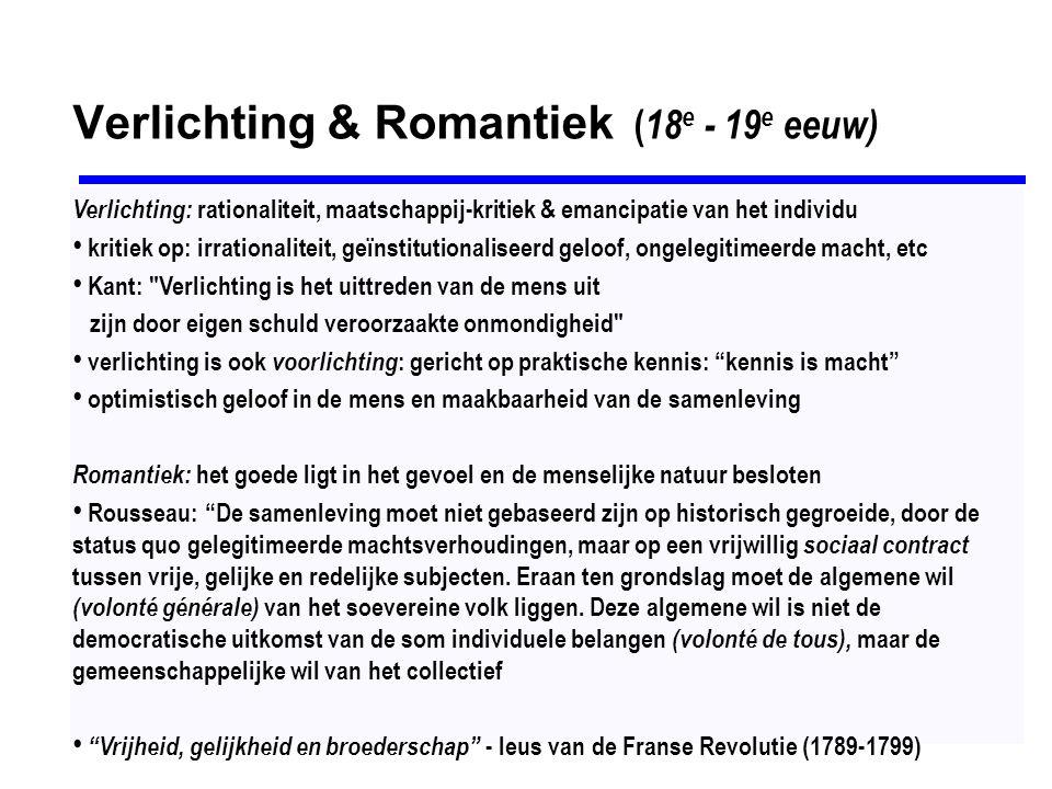 Verlichting & Romantiek (18e - 19e eeuw)
