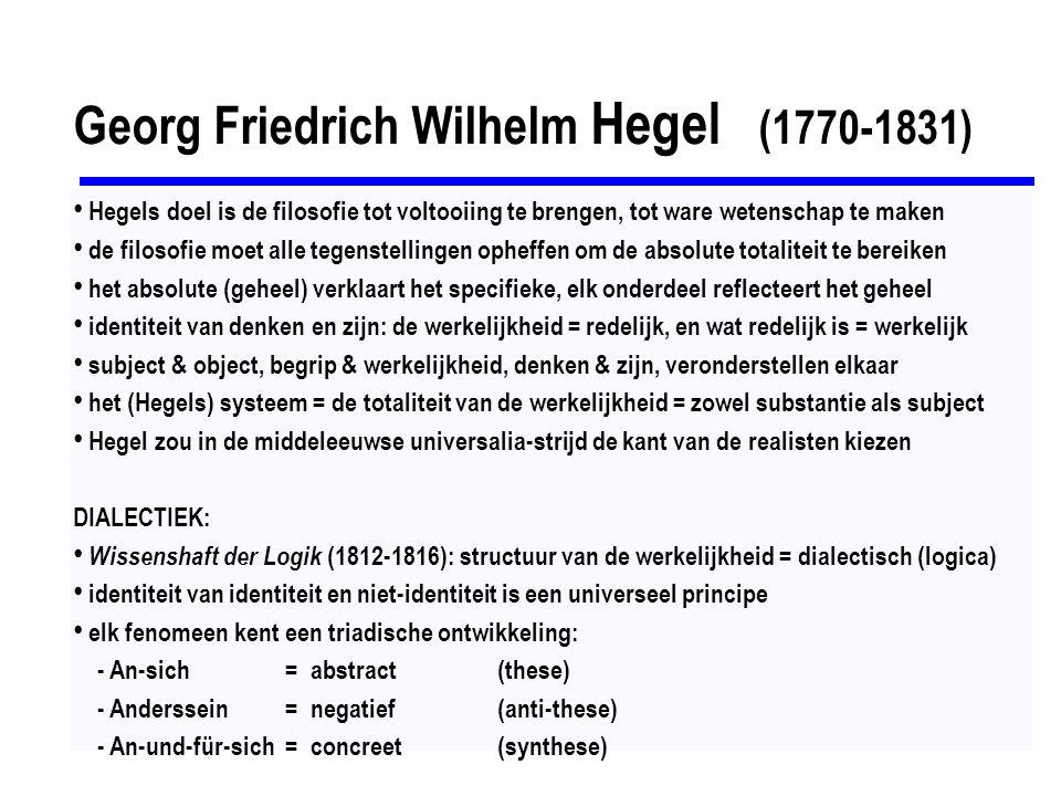 Georg Friedrich Wilhelm Hegel (1770-1831)