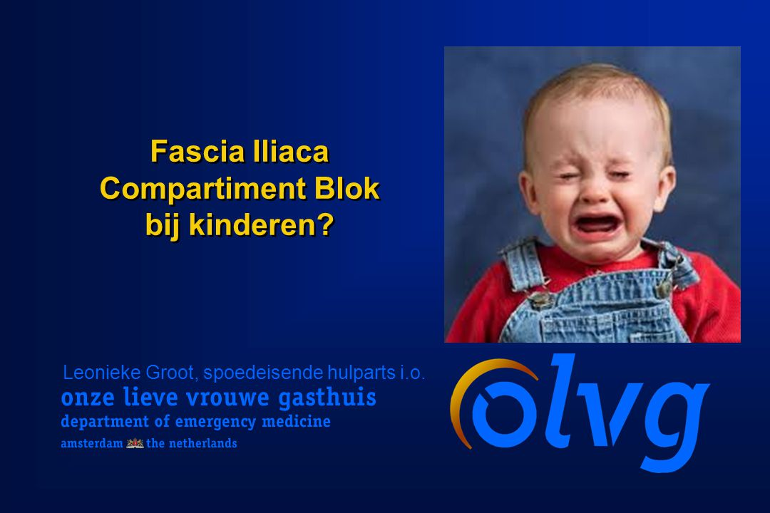 Fascia Iliaca Compartiment Blok bij kinderen