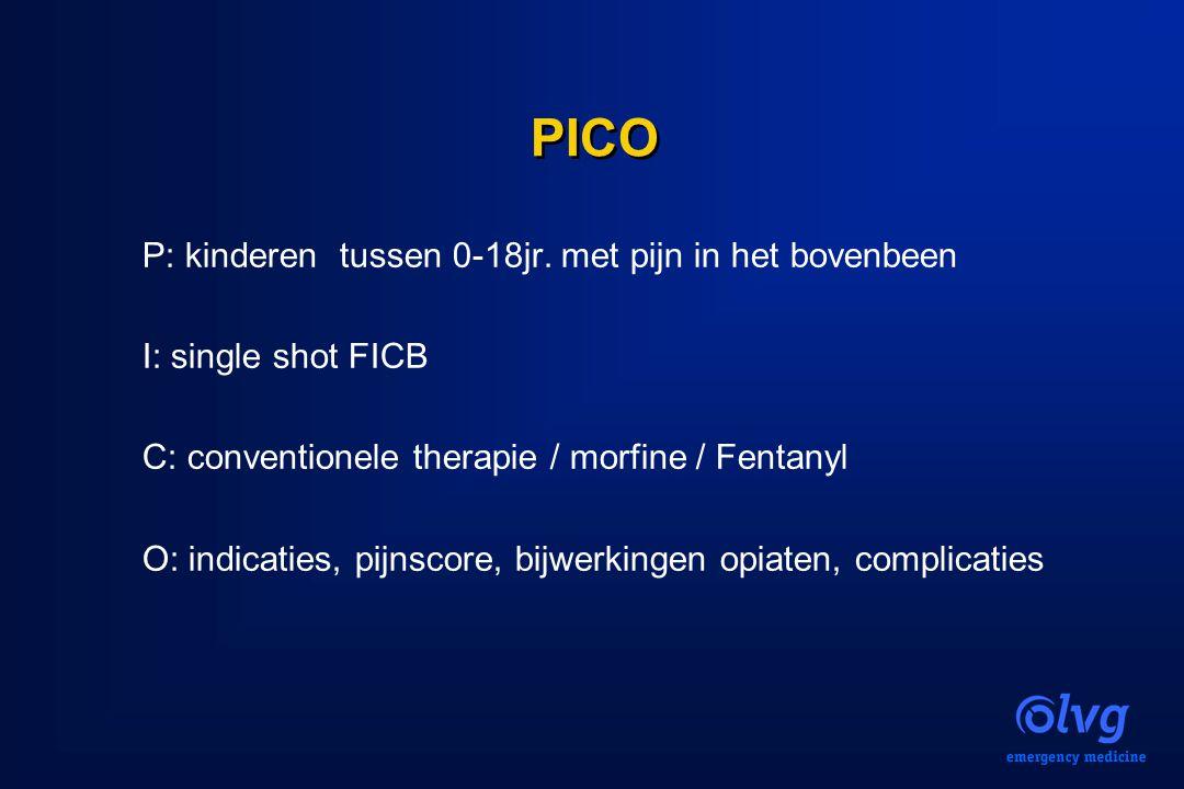 PICO P: kinderen tussen 0-18jr. met pijn in het bovenbeen