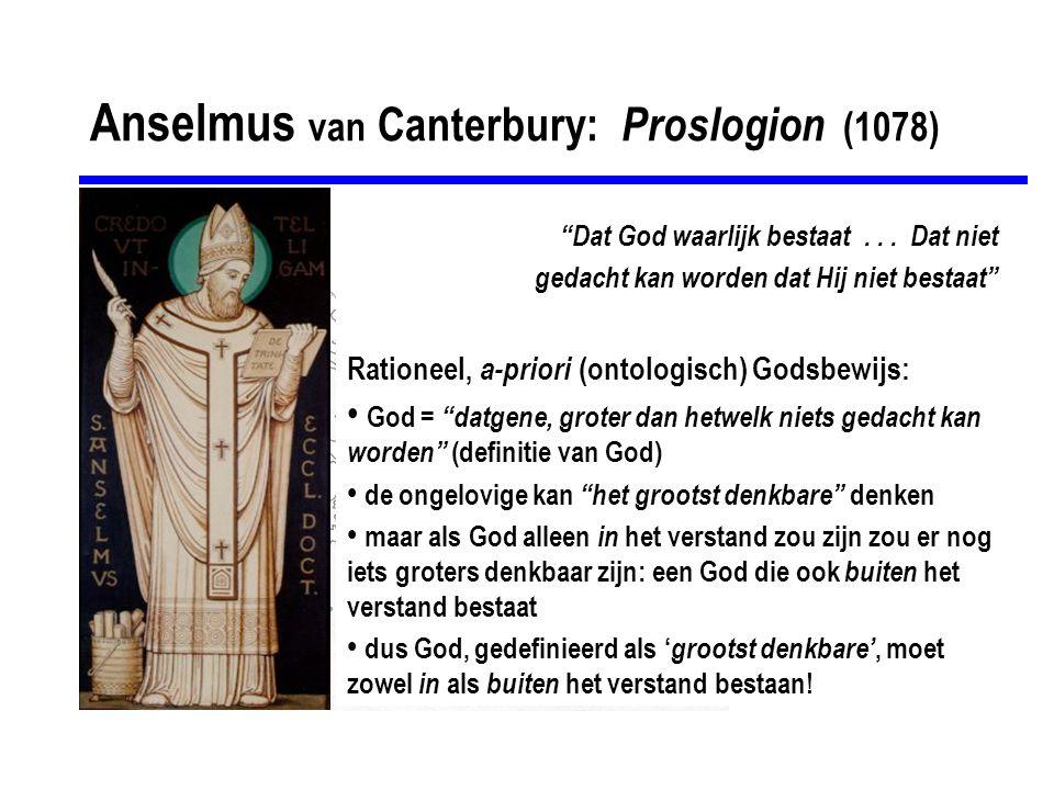 Anselmus van Canterbury: Proslogion (1078)