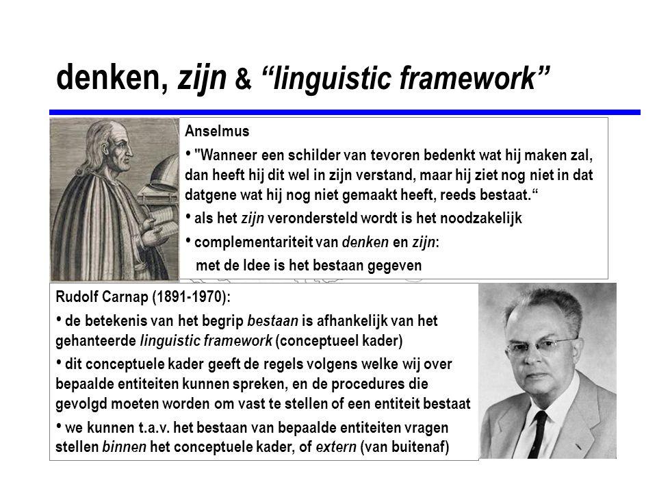 denken, zijn & linguistic framework