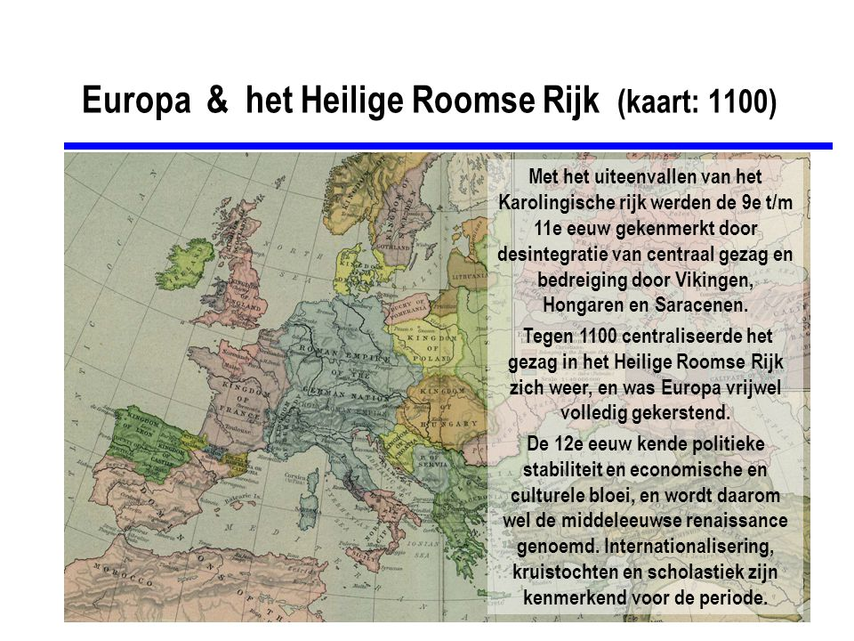 Europa & het Heilige Roomse Rijk (kaart: 1100)