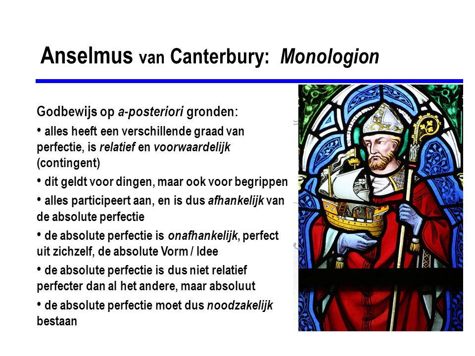 Anselmus van Canterbury: Monologion