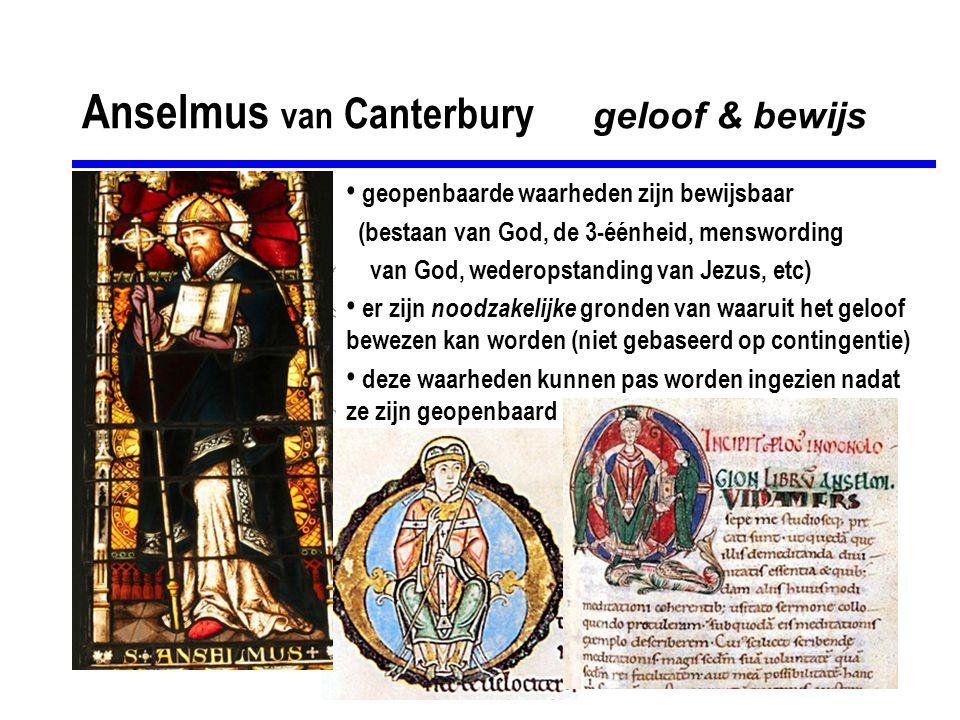 Anselmus van Canterbury geloof & bewijs
