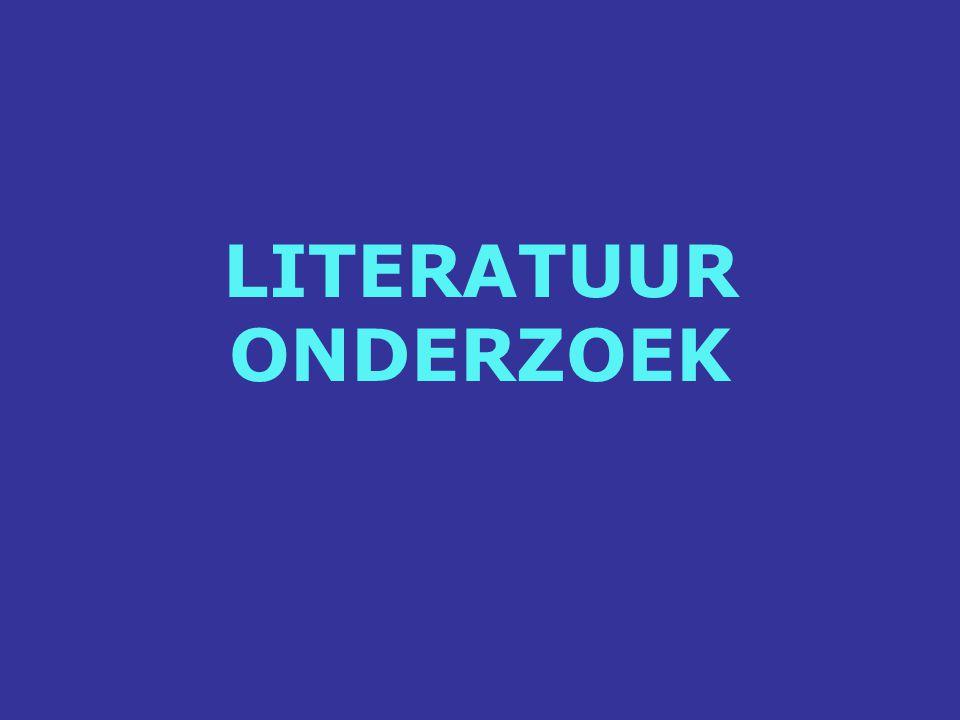 LITERATUUR ONDERZOEK