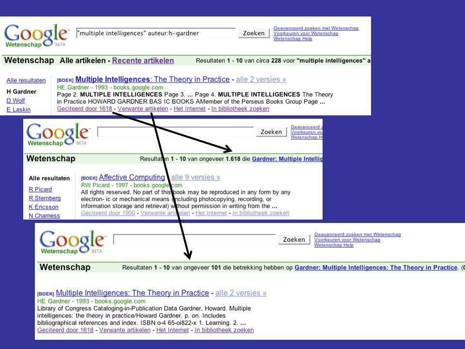 Google Scholar verkeert nog in het beta-stadium, dus hoe dit nieuwe fenomeen gaat passen in het geheel van wetenschappelijke informatieverzorging is nog onzeker.
