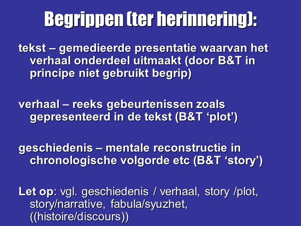 Begrippen (ter herinnering):