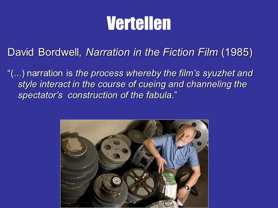 Vertellen David Bordwell, Narration in the Fiction Film (1985)
