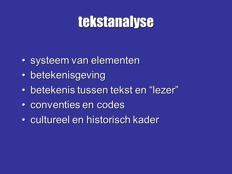 tekstanalyse systeem van elementen betekenisgeving
