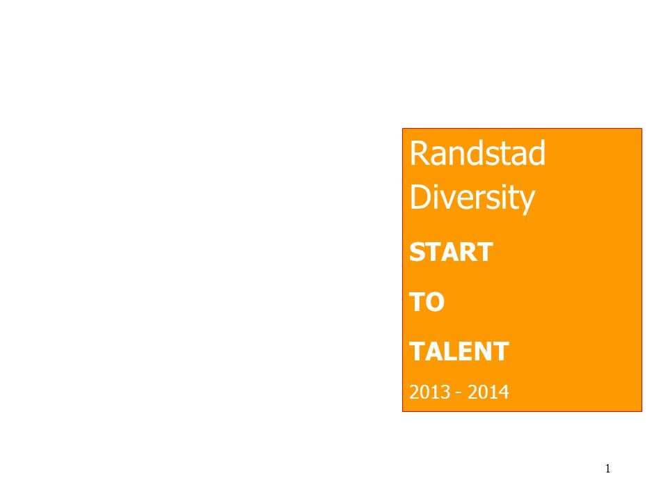 Randstad Diversity START TO TALENT