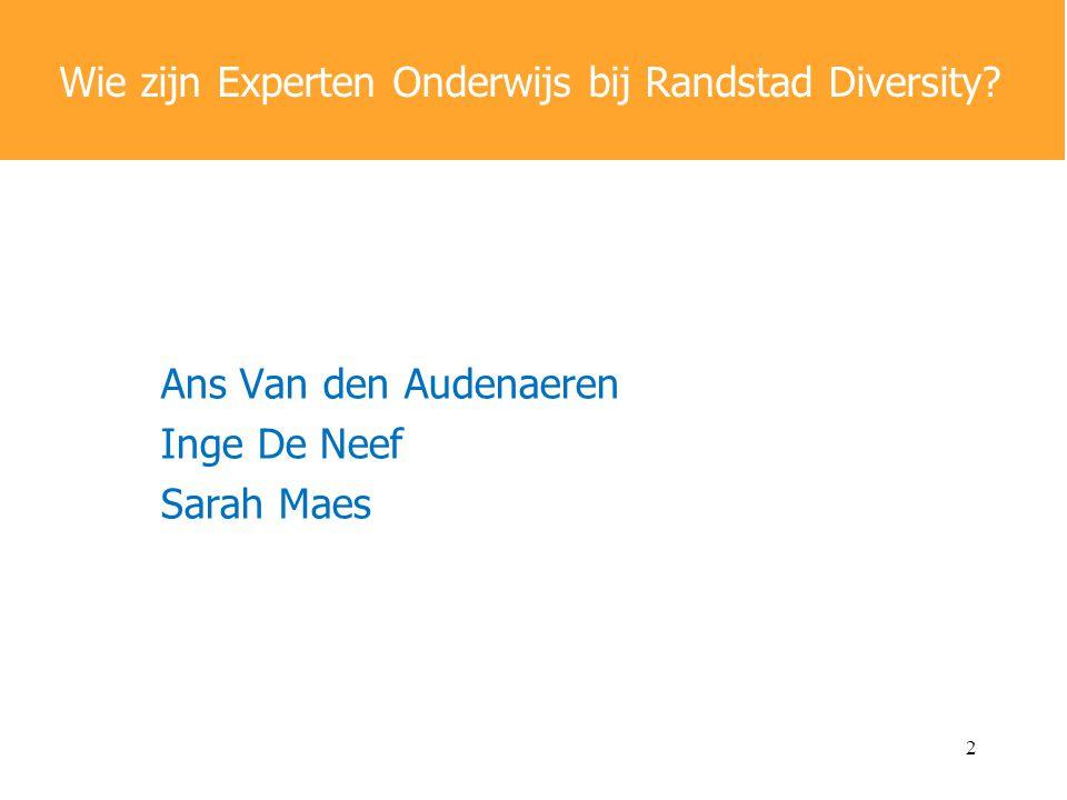 Wie zijn Experten Onderwijs bij Randstad Diversity
