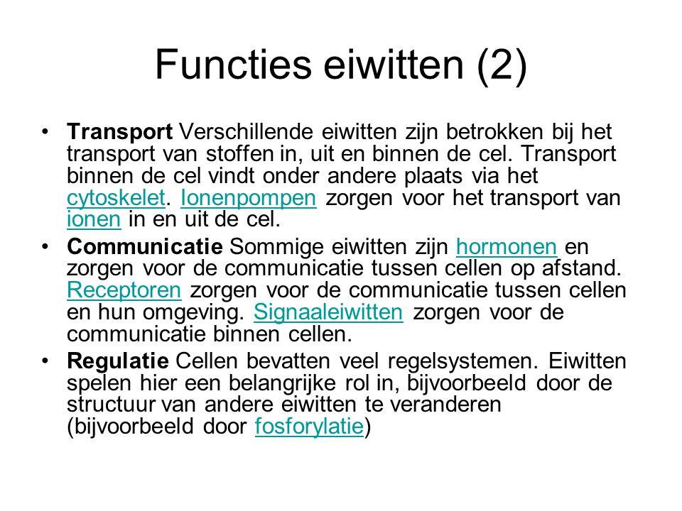 Functies eiwitten (2)