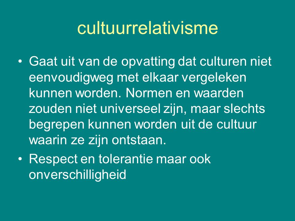 cultuurrelativisme