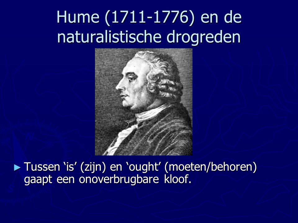 Hume (1711-1776) en de naturalistische drogreden