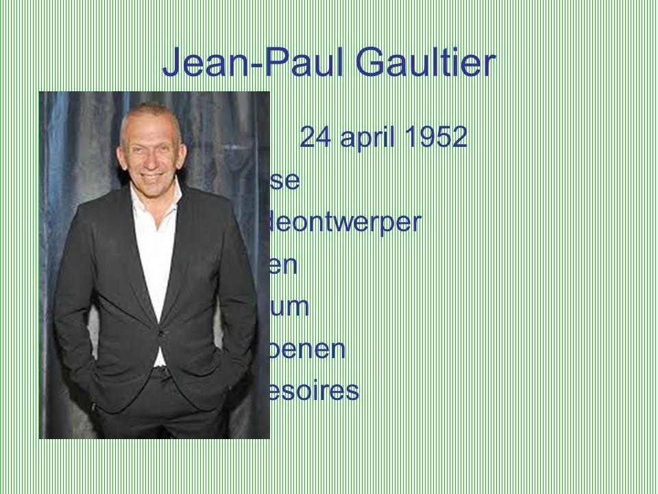 Jean-Paul Gaultier 24 april 1952 franse modeontwerper kleren parfum
