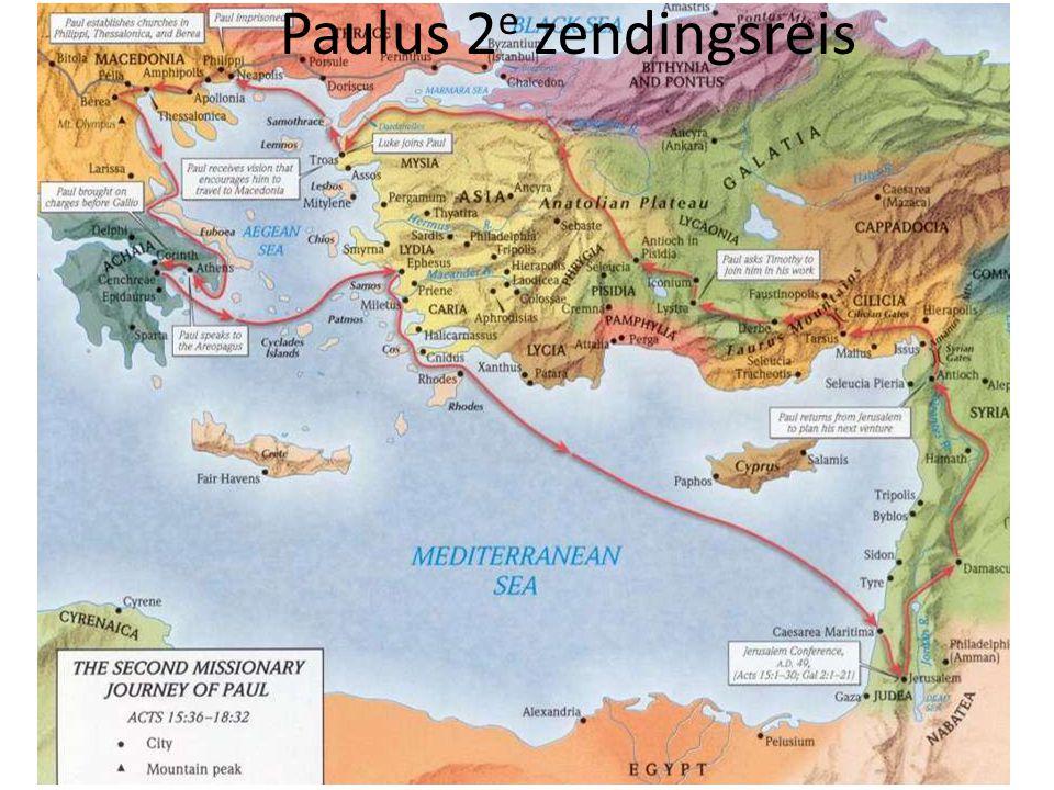Paulus 2e zendingsreis