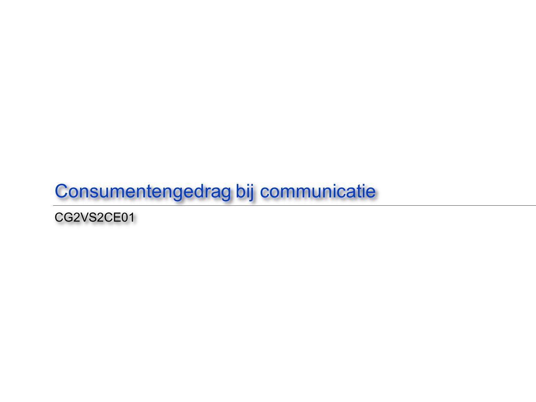 Consumentengedrag bij communicatie