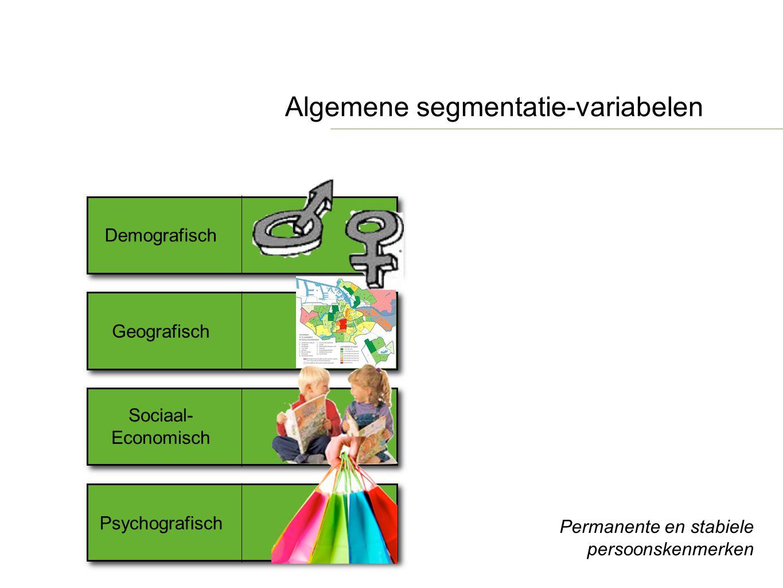 Algemene segmentatie-variabelen