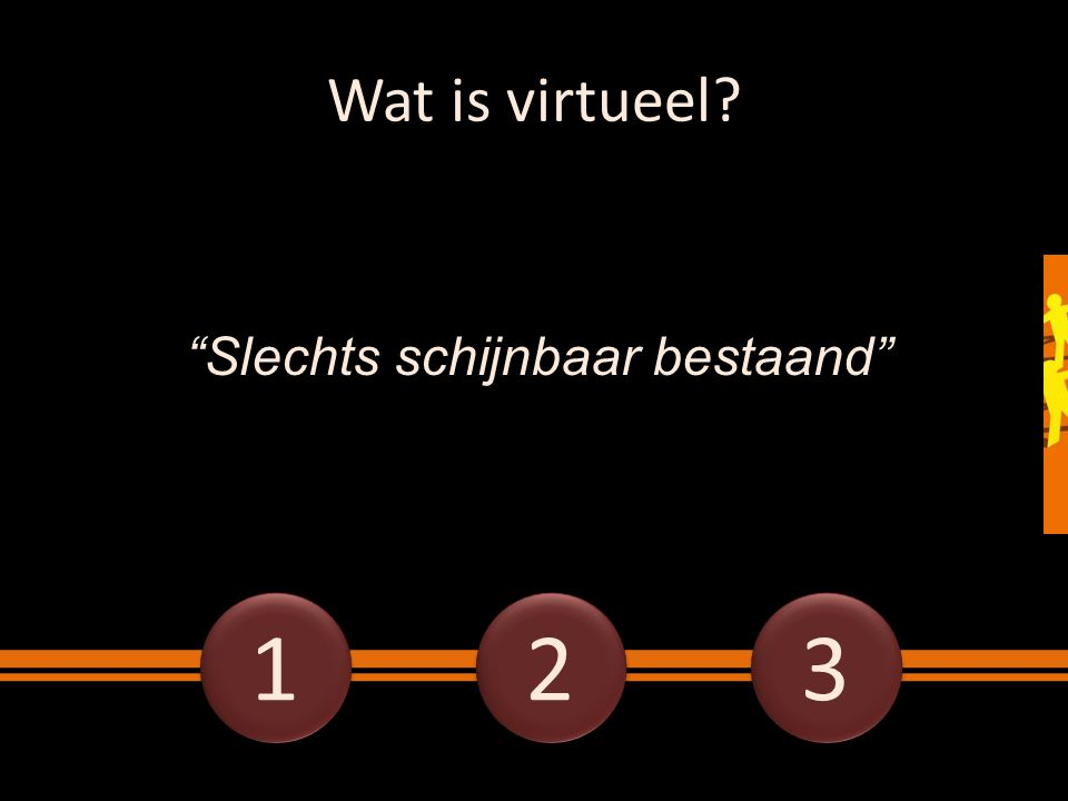 Wat is virtueel Slechts schijnbaar bestaand 1 2 3