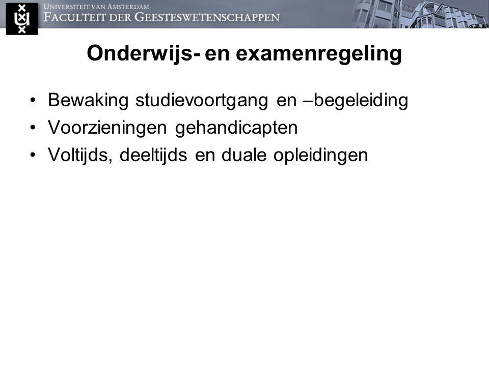 Onderwijs- en examenregeling