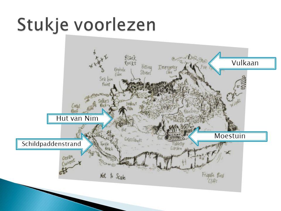 Stukje voorlezen Vulkaan Hut van Nim Moestuin Schildpaddenstrand