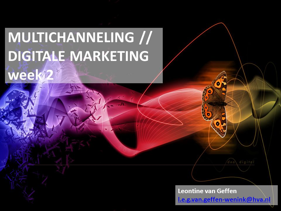 MULTICHANNELING // DIGITALE MARKETING week 2