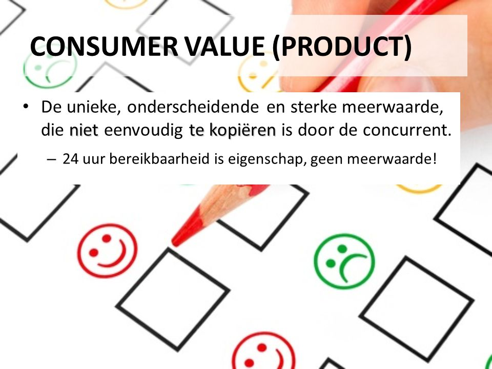 CONSUMER VALUE (PRODUCT)