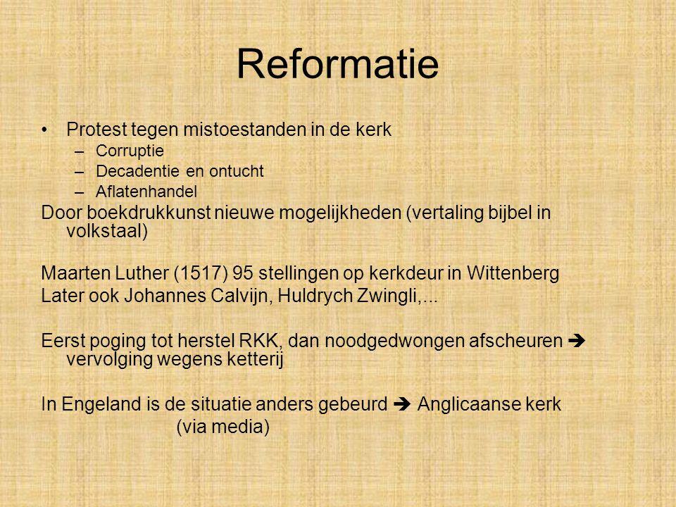 Reformatie Protest tegen mistoestanden in de kerk