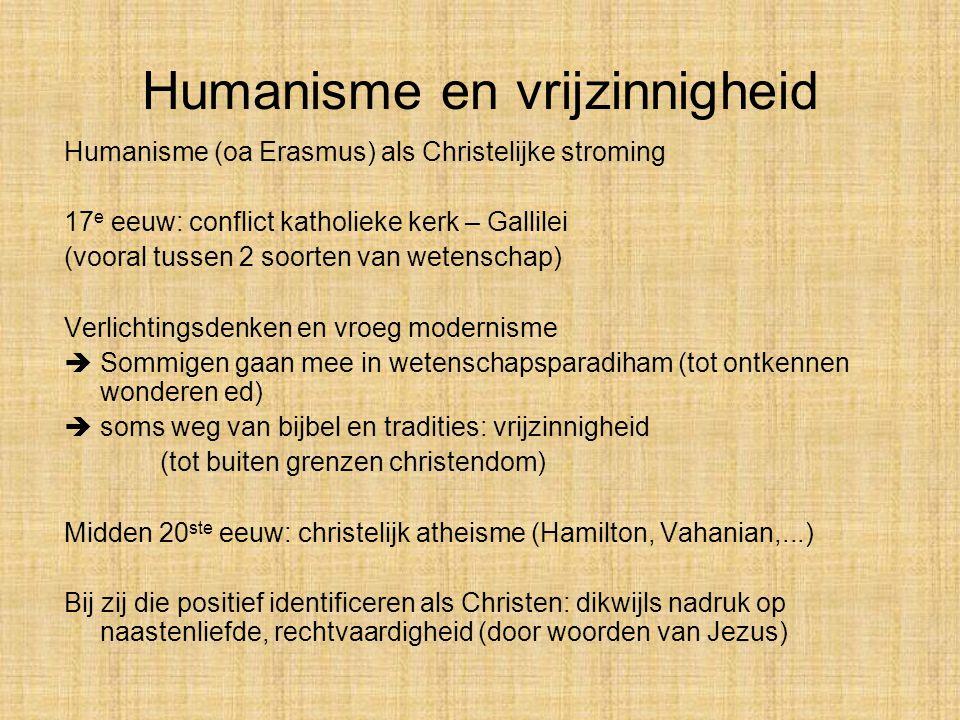 Humanisme en vrijzinnigheid