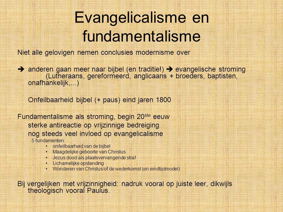Evangelicalisme en fundamentalisme