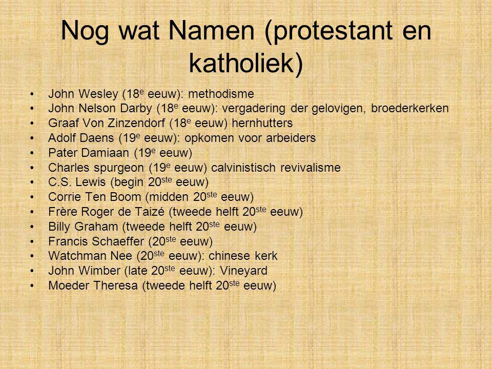 Nog wat Namen (protestant en katholiek)