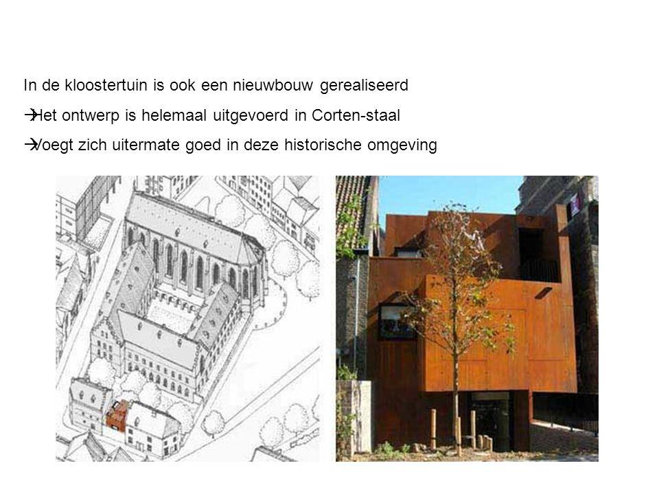 In de kloostertuin is ook een nieuwbouw gerealiseerd