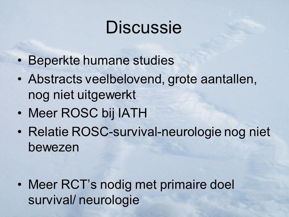 Discussie Beperkte humane studies