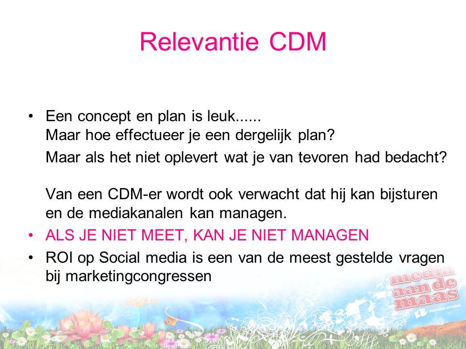 Relevantie CDM Een concept en plan is leuk...... Maar hoe effectueer je een dergelijk plan