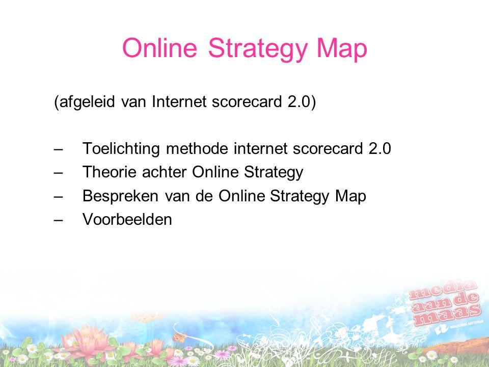 Online Strategy Map (afgeleid van Internet scorecard 2.0)