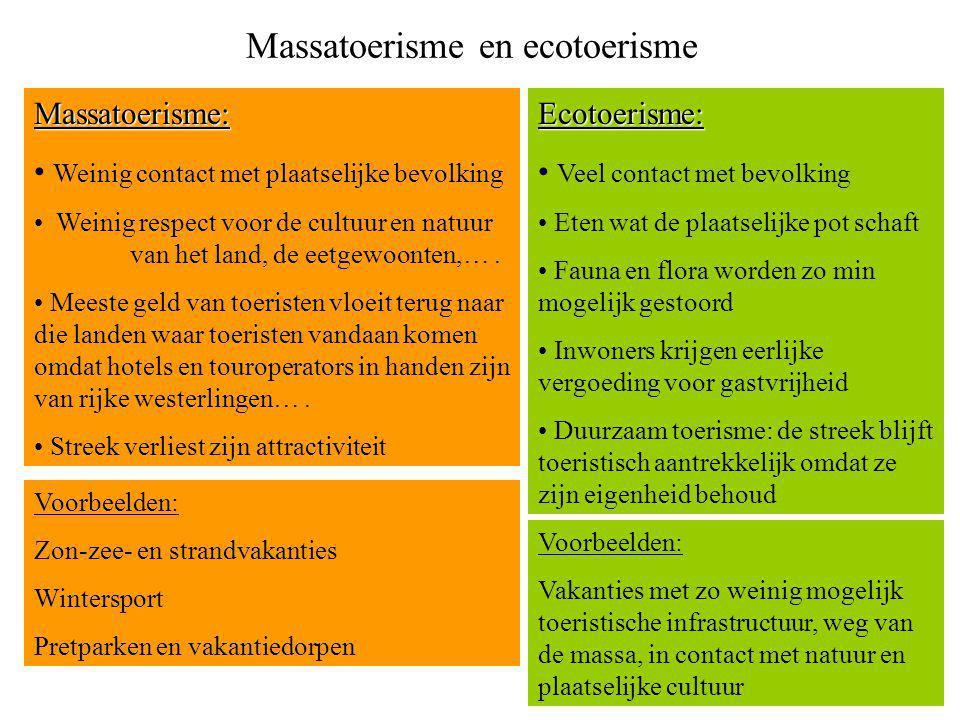 Massatoerisme en ecotoerisme