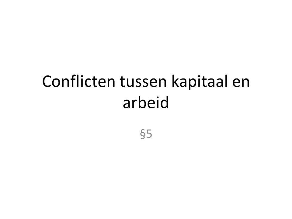 Conflicten tussen kapitaal en arbeid