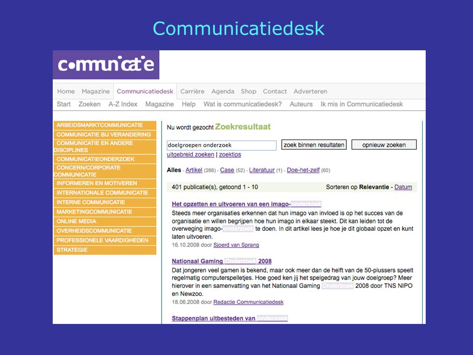 Communicatiedesk
