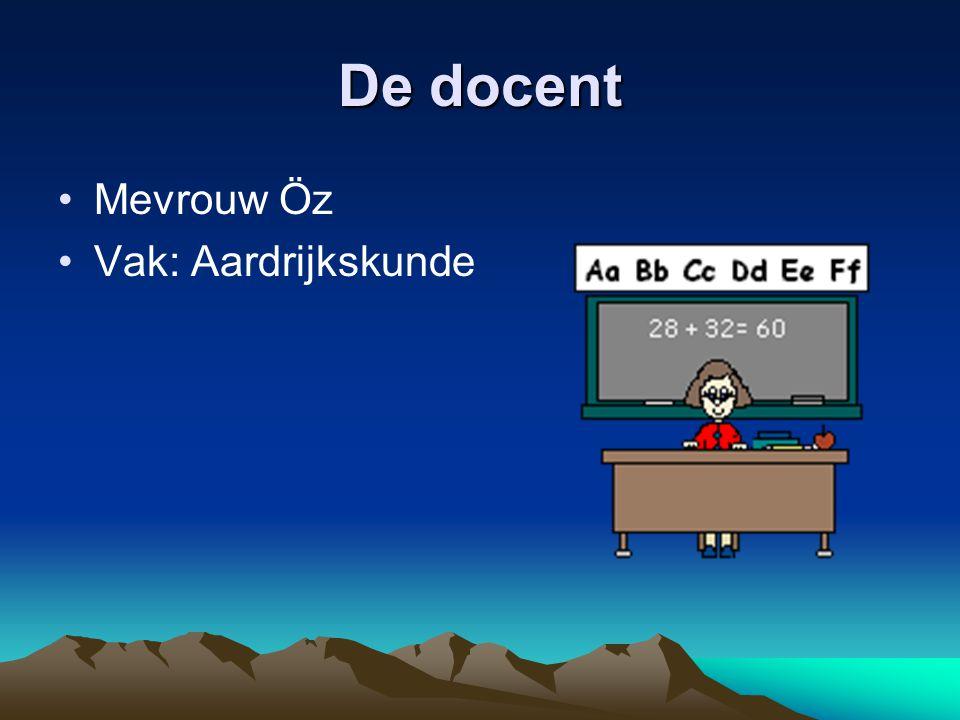 De docent Mevrouw Öz Vak: Aardrijkskunde